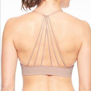 Athleta Pink Adjustable Sports Bra Strappy Back S